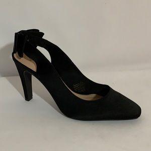 H&M Black Slingback Bow Heels Size 8.5